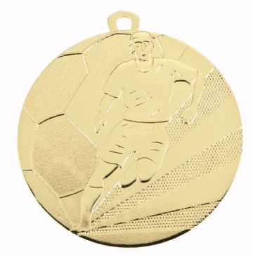 D118A 70MM Embossed Football Medal & Ribbon ( Box Qty 200 ) from only £200.00 = £1.00 each